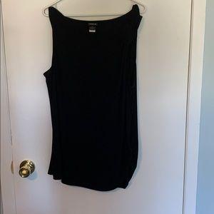 Torrid Size 2 Black Gathered Shoulder Tank Top